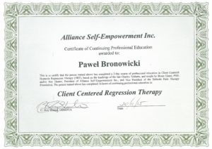 Alliance Self-Empowerment Institute - Client Centered Regression Therapy
